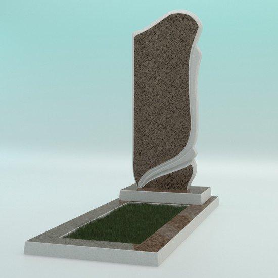 Памятник из высокопрочного бетона №1 1000-450-50