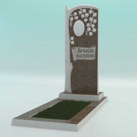 Памятник из высокопрочного бетона №6 с надписью 1000-400-50