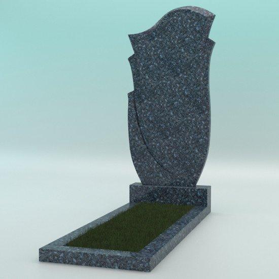 Памятник из гранита фигурный голубой FZ-47 1000-500-50