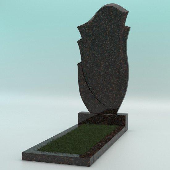 Памятник из гранита фигурный коричневый FZ-47 1000-500-50