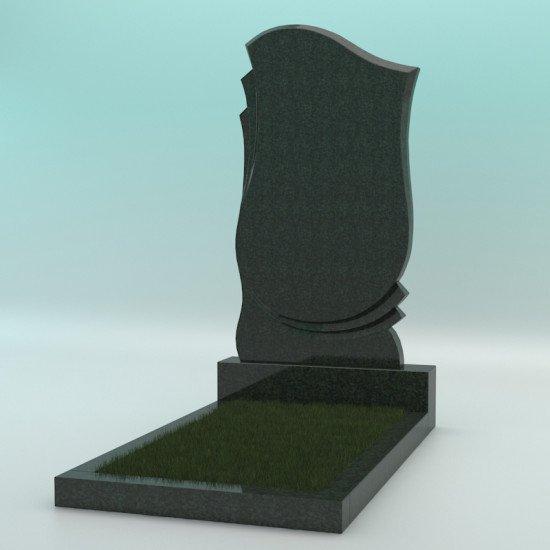Памятник из гранита фигурный зелёный FZ-80 1100-600-70