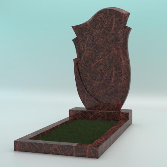 Памятник из гранита фигурный коричневый (Аврора) FZ-47 1000-600-70