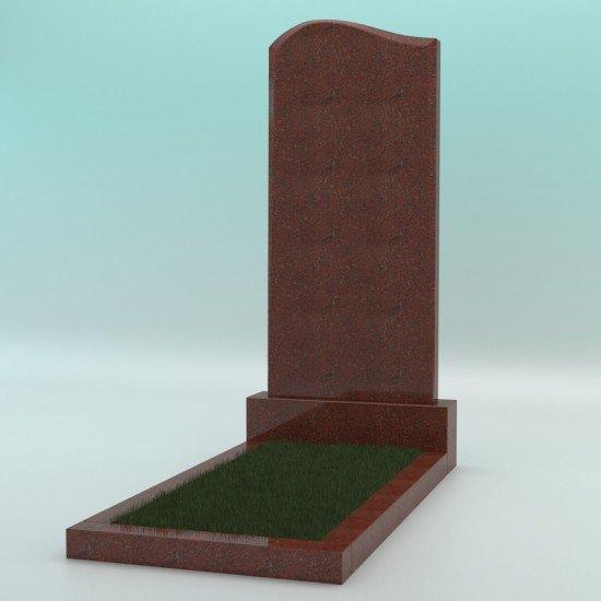 Памятник из гранита фигурный красный JD-1 1100-500-70