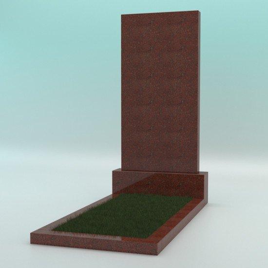 Памятник из гранита прямой красный 1000-500-70
