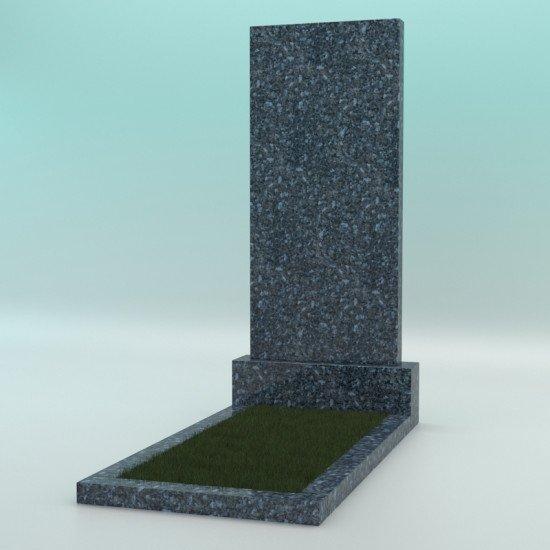 Памятник из гранита прямой голубой 1100-500-70