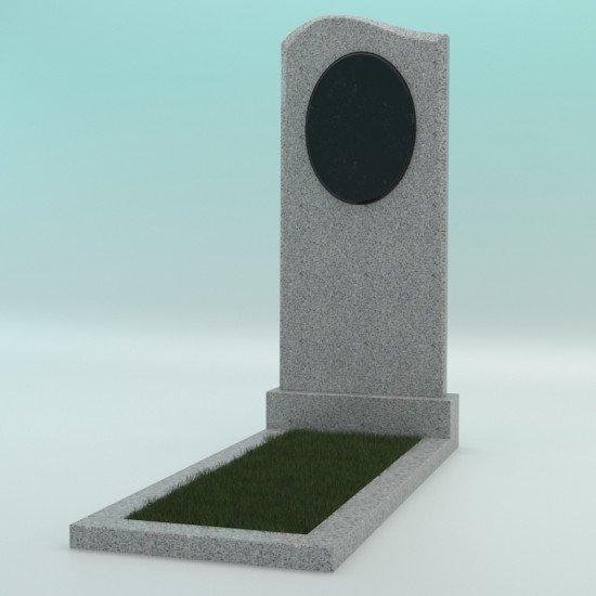 Памятник из гранита фигурный светло-серий G-603 JD-1 1000-450-50