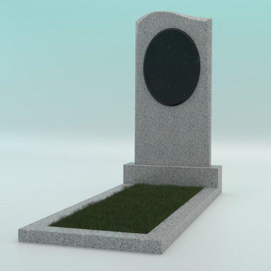 Памятник фигурный из гранита светло-серый G-603 JD-1 800-400-50