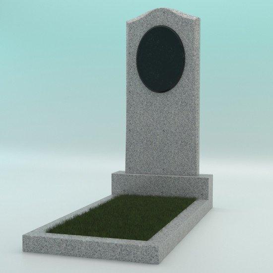 Памятник из гранита фигурный светло-серый G-603 JD-2 1000-450-70