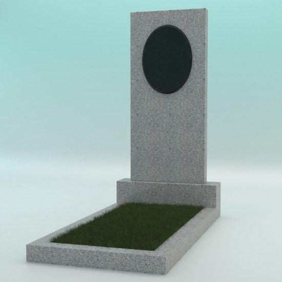 Памятник из гранита прямой Светло-серый G-603 1000-450-70
