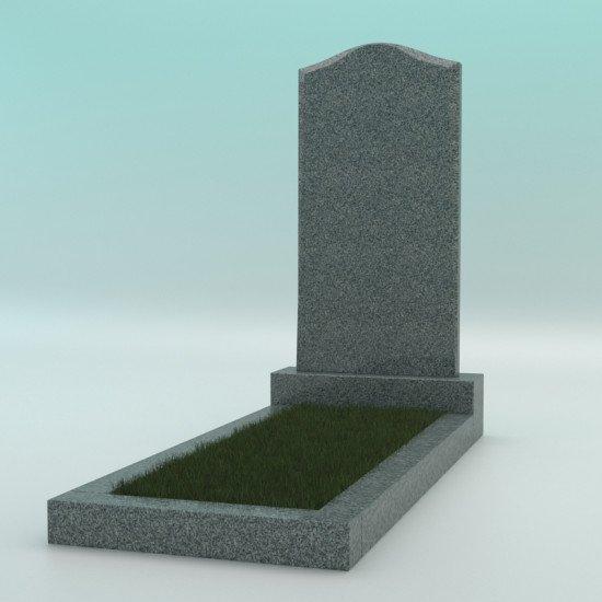 Памятник из гранита фигурный тёмно-серый G-654 JD-2 800-400-50
