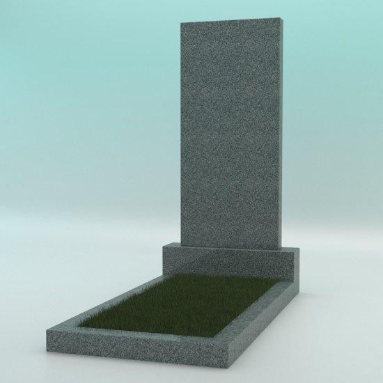 Памятник из гранита тёмно-серый прямой G-654 1000-450-70