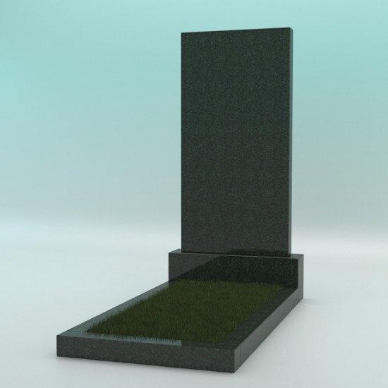 Памятник из гранита прямой зелёный Ever Green 1000-450-70